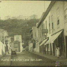 Postales: POSTAL DE TENERIFE, PUERTO DE LA CRUZ, CALLE SAN JUAN. Lote 48813117