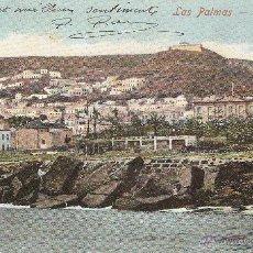 Postales: LAS PALMAS 7887 - GRAN CANARIA REVERSO SIN DIVIDIR CIRCULADA EN 1906. Lote 49020637