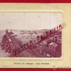 Postales: POSTAL LAS PALMAS , PUERTO REFUGIO , REVERSO SIN PARTIR , ORIGINAL , P81692. Lote 49577630