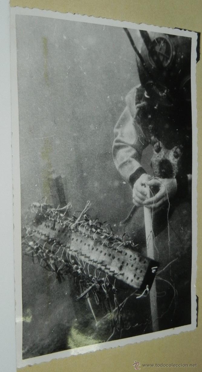 FOTOGRAFIA DE BUZO COLOCANDO CARGAS EXPLOSIVAS, PARA LA CONSTRUCCION DE LOS DUQUES DE ALBA DE LA REF (Postales - España - Canarias Antigua (hasta 1939))