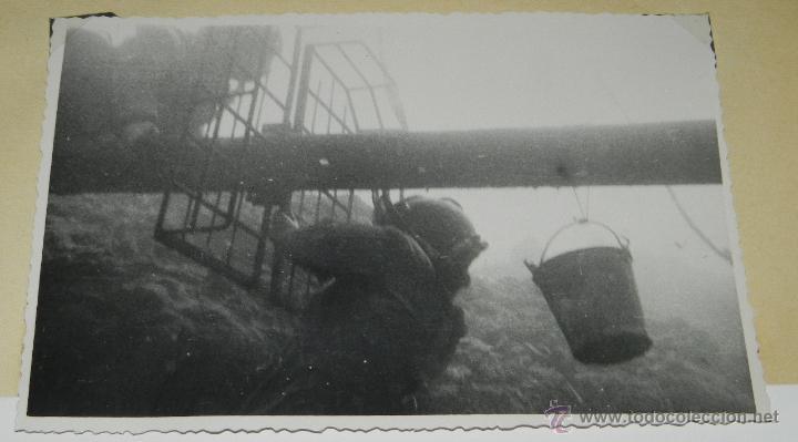 FOTOGRAFIA DE BUZOS EN TRABAJO DE LOS DUQUES DE ALBA DE LA REFINERIA CEPSA, SANTA CRUZ DE TENERIFE, (Postales - España - Canarias Antigua (hasta 1939))