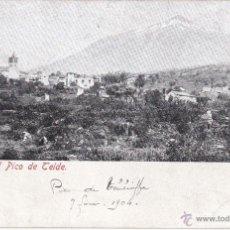 Postais: POSTAL. ICOD CON EL PICO TEIDE. 1904. TENERIFE. CANARIAS. . Lote 49858557
