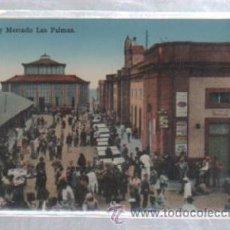 Postales: TARJETA POSTAL DE LAS PALMAS - PLAZA Y MERCADO. RODRIGUES BROS. Lote 49918208