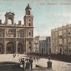 Postales: LAS PALMAS Nº18 CATEDRAL J. PERESTRELLO CIRCULADA . Lote 50577140