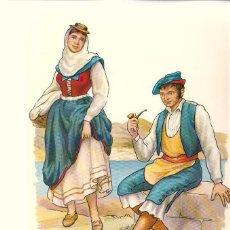 Postales: LA PALMA (CANARIAS).- COLECCIÓN DE 15 POSTALES DE TRAJES TÍPICOS DE LA ISLA (1965). Lote 51475430