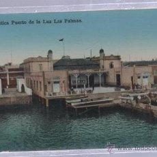 Postales: TARJETA POSTAL DE LAS PALMAS - CLUB NAUTICA. PUERTO DE LA LUZ. RODRIGUES BROS. Lote 51559034