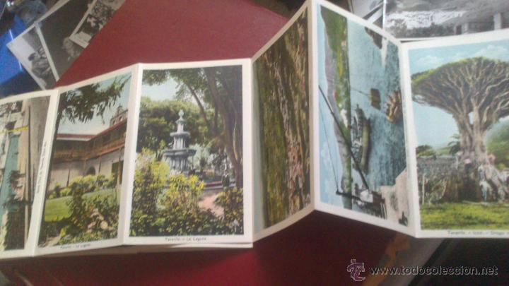 Postales: CARNET ACORDEON DE FOTOGRAFIAS A DOS CARAS EN COLOR, TIPO POSTAL, RECUERDO DE TENERIFE, VER FOTO - Foto 2 - 51740331
