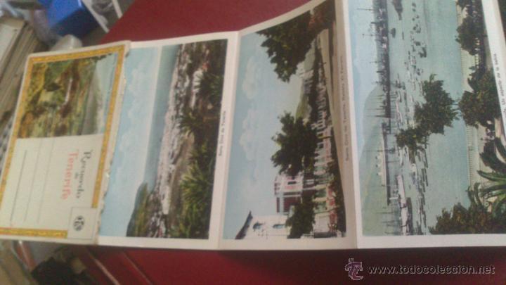 Postales: CARNET ACORDEON DE FOTOGRAFIAS A DOS CARAS EN COLOR, TIPO POSTAL, RECUERDO DE TENERIFE, VER FOTO - Foto 3 - 51740331