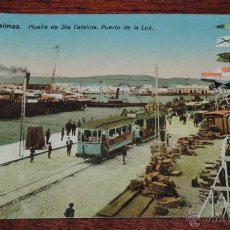 Postales: POSTAL DE LAS PALMAS, MUELLE DE STA. CATALINA, PUERTO DE LA LUZ, ED. RODRIGUEZ BROS, N. 42, NO CIRC. Lote 52015573