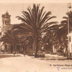 Postales: LAS PALMAS Nº79 PLAZA CAIRASCO BAZAR ALEMÁN SIN CIRCULAR. Lote 52298813