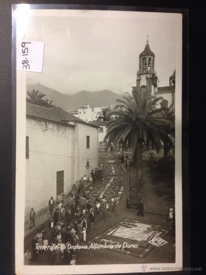 TENERIFE - LA OROTAVA - ALFOMBRA DE FLORES - FOTOGRAFICA CIF - (38159) (Postales - España - Canarias Antigua (hasta 1939))