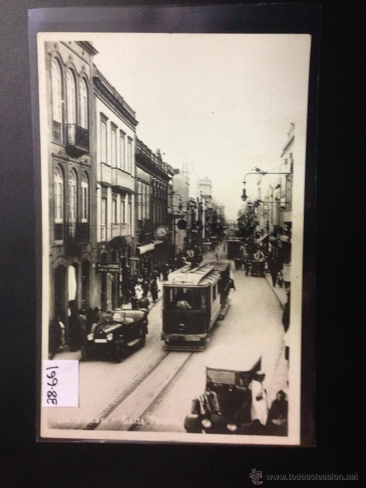 LAS PALMAS - CALLE DE TRIANA - TRANVIA - FOTOGRAFICA - (38661) (Postales - España - Canarias Antigua (hasta 1939))