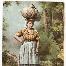 Postales: LAVANDERA TENERIFE. MATASELLOS LAS PALMAS. ESCRITA 1906, CON SELLO . - VELL I BELL. Lote 52858318