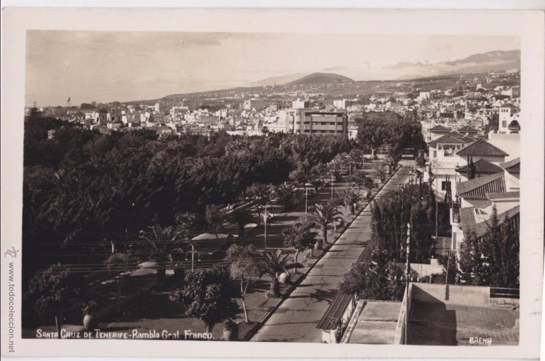 P- 4014. POSTAL DE SANTA CRUZ DE TENERIFE. RAMBLA GRAL FRANCO. BAENA. (Postales - España - Canarias Moderna (desde 1940))