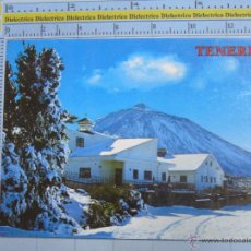 Postais: POSTAL DE TENERIFE. AÑO 1976. EL TEIDE, NIEVE 728. Lote 54197138