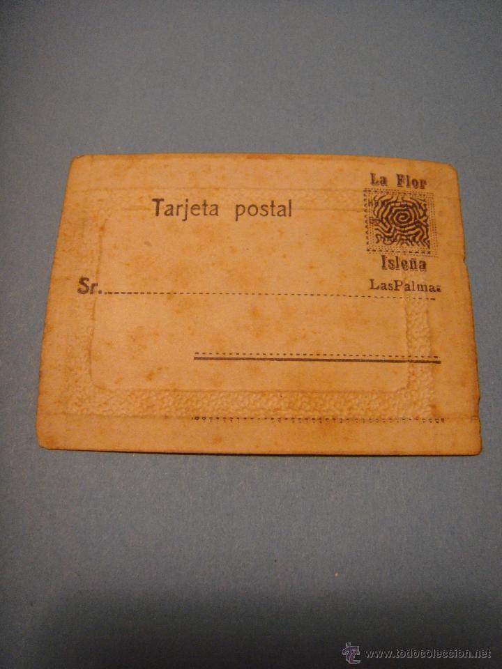 Postales: Antigua postal. La Flor. isleña. Las Palmas. Tarjeta Postal con imagen de una casa. - Foto 2 - 54731039