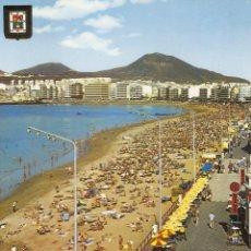 Postales: POSTAL, LAS PALMAS DE GRAN CANARIA, PLAYA DE LAS CANTERAS ,VISTA GENERAL, CIRCULADA. Lote 54737902