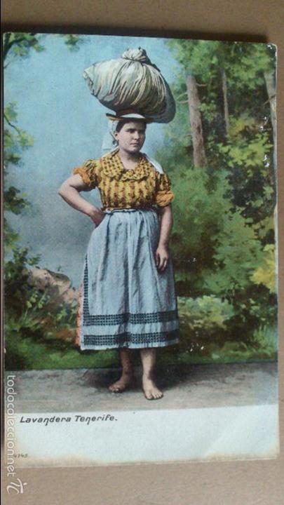 LAVANDERA DE TENERIFE (Postales - España - Canarias Antigua (hasta 1939))