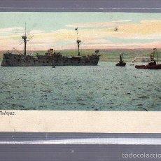 Postales: TARJETA POSTAL DE LAS PALMAS - BARCOS EN LA BAHIA.. Lote 55230828