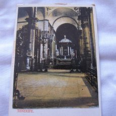 Postales: POSTAL ANTIGUA COLOREADA TENERIFE CATEDRAL BAZAR INGLES Nº 9. Lote 55240440