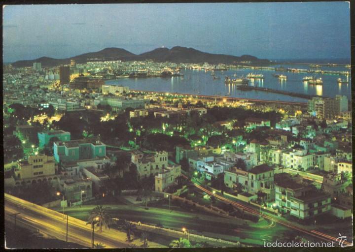Gran Canaria Vista Nocturna De La Ciudad Comprar Postales De