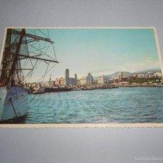 Postales: POSTAL BAHIA DE SANTA CRUZ DE TENERIFE - ESCRITA Y CIRCULADA - LITO A. ROMERO - DETALLE BARCOS. Lote 55376979