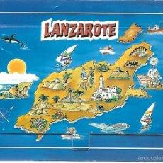 Postales: BLOC 12 POSTALES ANTIGUAS DE - LANZAROTE. Lote 56003748