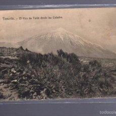 Postales: TARJETA POSTAL TENERIFE - EL PICO DE TEIDE DESDE LAS CAÑADAS. NOBREGA'S ENGLISH BAZAR. 16017. PVK Z. Lote 56036468