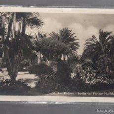 Postales: TARJETA POSTAL DE LAS PALMAS - JARDIN DEL PARQUE MUNICIPAL. 54. BAZAR ALEMAN. Lote 56376926