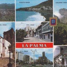 Postais: LA PALMA Nº 195 DIVERSOS ASPECTOS ESCRITA 13/8/85 FOTO ESCUDO DE ORO . Lote 56397896