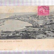 Postales: TARJETA POSTAL DE TENERIFE. BAHÍA DEL PUERTO DE TENERIFE. BAZAR FRANCÉS STª CRUZ TENERIFE.. Lote 56911359