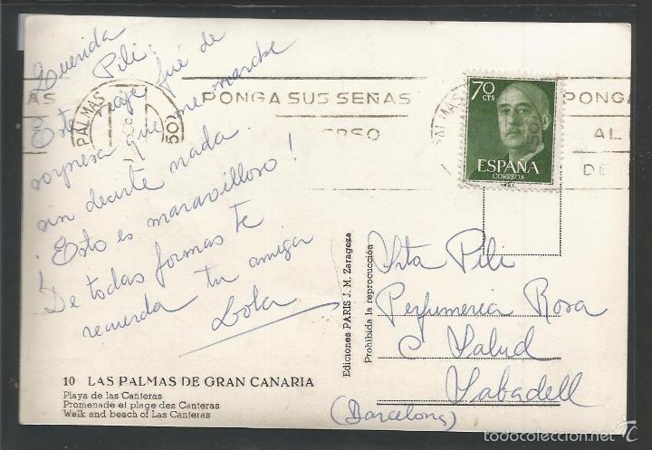 Postales: LAS PALMAS DE GRAN CANARIA -10 - PLAYA DE LAS CANTERAS - (43.408) - Foto 2 - 57020074