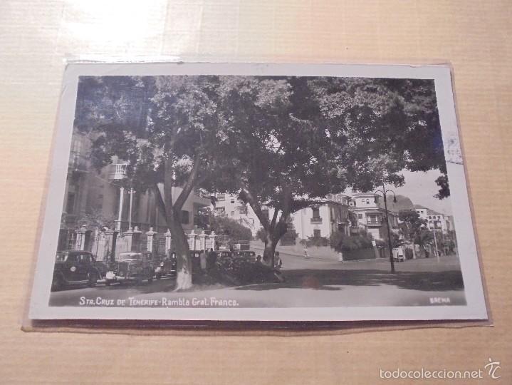 STA. CRUZ DE TENERIFE - RAMBLA DEL GENERAL FRANCO . BAENA - 14X9 CM., POSTAL CIRCULADA (Postales - España - Canarias Antigua (hasta 1939))