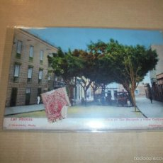 Postales: LAS PALMAS PLAZA DE SAN BERNARDO Y HOTEL CONTINENTAL J. PERESTRELLO PHOTO REGISTRADO Nº 10 CIRCULADA. Lote 57627247