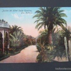 Postales: POSTAL LAS PALMAS. JARDÍN DEL HOTEL SANTA CATALINA. . Lote 57696424
