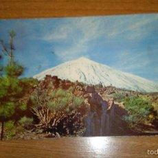 Postales: POSTAL TENERIFE EL TEIDE NEVADO SIN CIRCULAR. Lote 58267809