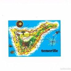 Postales: POSTAL ANTIGUA ISLAS CANARIAS TENERIFE SIN CIRCULAR MAPA DE LA ISLA. Lote 58659527
