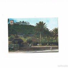 Postales: POSTAL ANTIGUA LAS PALMAS DE GRAN CANARIA CANARIAS CIRCULADA JARDINES DORAMAS ESTATUA LEON CASTILLO. Lote 58665967