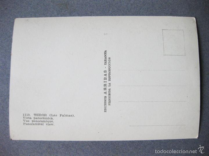 Postales: POSTAL FOTOGRAFICA CON UNA VISTA PANORAMICA DE TEROR. LAS PALMAS DE GRAN CANARIA. EDIONES ARRIBAS - Foto 2 - 61062079