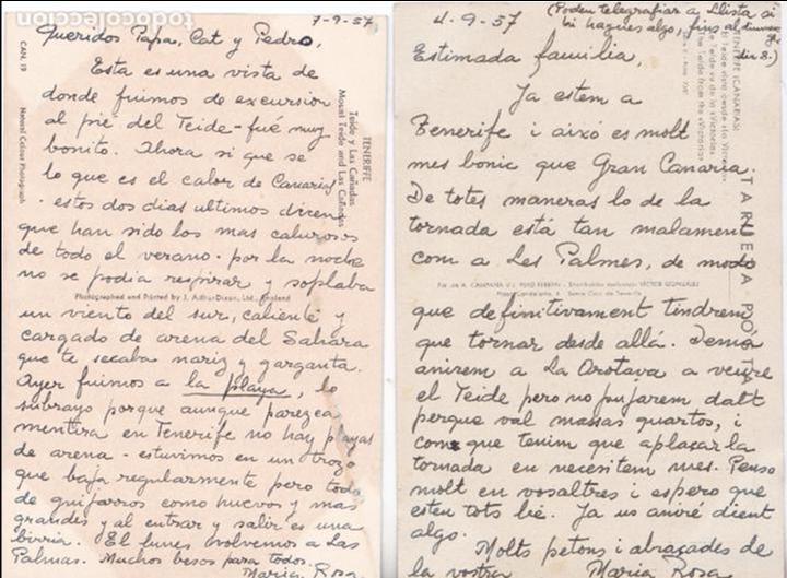 Postales: P- 6182. LOTE DE 5 POSTALES ISLAS CANARIAS. AÑO 1957. - Foto 4 - 62056580