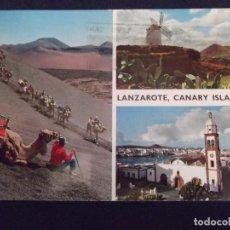 Postales: ISLAS CANARIAS-LANZAROTE-V1-CARAVANA DE CAMELLOS. Lote 62073772