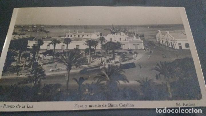 PUERTO DE LA LUZ, LAS PALMAS, PLAZA Y MUELLE DE SANTA CATALINA (Postales - España - Canarias Antigua (hasta 1939))
