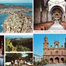 Postales: LOTE 4 POSTALES LAS PALMAS DE GRAN CANARIA. (SIN CIRCULAR).(16-565). Lote 62886792