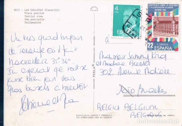 Postales: POSTAL LAS GALLETAS. TENERIFE. VISTA PARCIAL. CIRCULADA - Foto 2 - 63406052