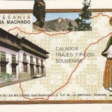 Postales: LA OROTAVA - PUBLICIDAD ARTESANIA ELADIA MACHEDO HOTEL GRAN TINERFE - ADEJE -1971 -ED ROMERO ESCRITA. Lote 63506404