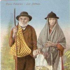 Postales: LAS PALMAS.- TIPOS CANARIOS. Lote 67686333