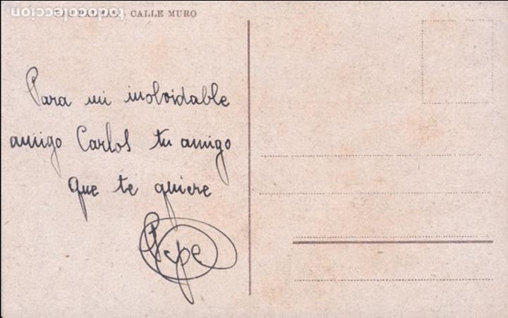 Postales: P- 6309. POSTAL LAS PALMAS. CALLE MURO. - Foto 2 - 68465861