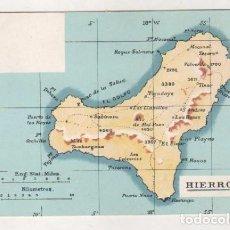 Postales: POSTAL ANTIGUA CON MAPA DE LA ISLA DEL HIERRO. SIN CIRCULAR. NÚM 3705 NO FIGURA EDITOR. . Lote 69280573