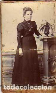 FOTOGRAFÍA TARJETA DE VISITA. GRAN CANARIA. LUIS OJEDA PEREZ FOTOGRAFO. RETRATO SEÑORA. (Postales - España - Canarias Antigua (hasta 1939))