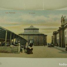Postales: LAS PALMAS EL MERCADO COLOREADA. Lote 72746383